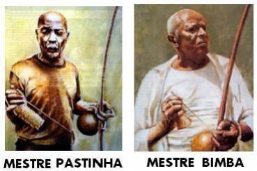 Deux grandes figures de la Capoeira: Mestre Pastinha, incarnant la Capoeira Angola, & Mestre Bimba, qui a posé les bases de la Capoeira Regional